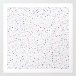 Speckles I: Rose Quartz & Serenity on Snow Art Print