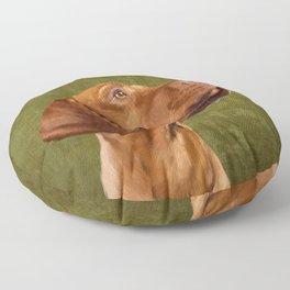 Magyar Vizsla portrait Floor Pillow
