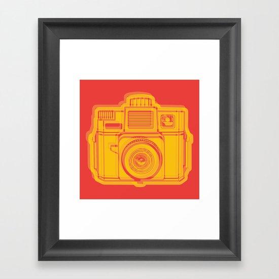 I Still Shoot Film Holga Logo - Reversed Yellow & Red Framed Art Print