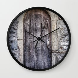 Old French Door Wall Clock