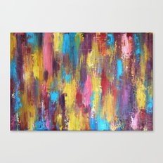 Primary - Textured Palette Knife Painting Canvas Print