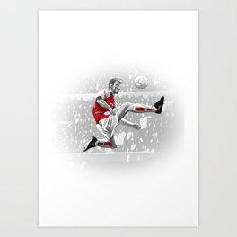 Dennis Bergkamp - Arsenal Art Print