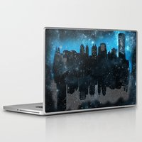 john green Laptop & iPad Skins featuring Cityscape Galaxy Paper Towns John Green Inspired  by denise