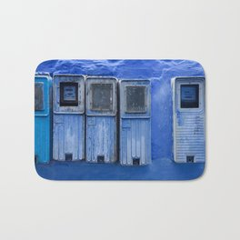 Blue Electricity Readers in Morocco Bath Mat