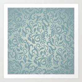 Beautiful Elegant Damask Pattern Art Print