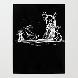 Norse Myth Frigg and Odin Sailing In Fensalir Poster