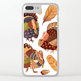 Turkey Gobblers Clear iPhone Case