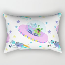 Outerspace Traffic Jam Rectangular Pillow