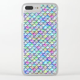 Rainbow Bubble Scales Clear iPhone Case