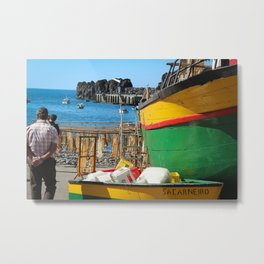 Watching the ships come in... Metal Print