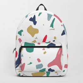 Fossil Shark Teeth Terrazzo Backpack
