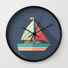 Sailing Yacht Wall Clock