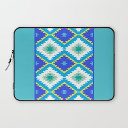 Turkish carpet yellow blue green. Patchwork mosaic oriental kilim rug Laptop Sleeve