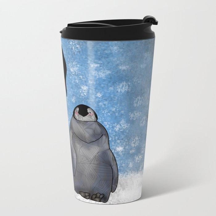 Emperor Penguins Metal Travel Mug