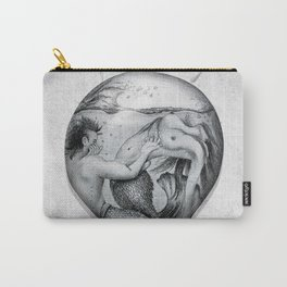 Trapped In This Idea - Black & White Carry-All Pouch