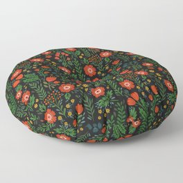Russian flowers Floor Pillow