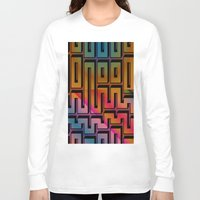 labyrinth Long Sleeve T-shirts featuring Labyrinth by Fine2art