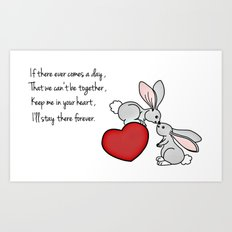 Snuggle Bunnies Art Print