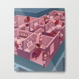 Office Romance Metal Print