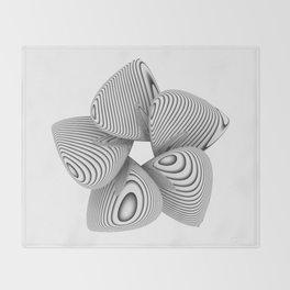 Bio Flower Art Print Throw Blanket
