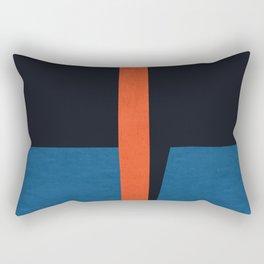 Blue and red modern art VII Rectangular Pillow