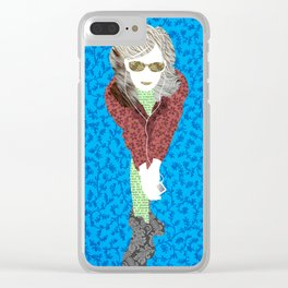 stereo girl Clear iPhone Case