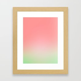 Watermelon Gradient Framed Art Print