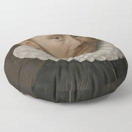 Adriaen Thomasz. Key - Portrait of a Man Floor Pillow