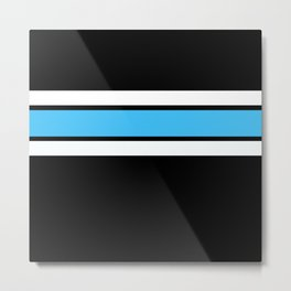 Team Colors 2..light blue ,white Metal Print