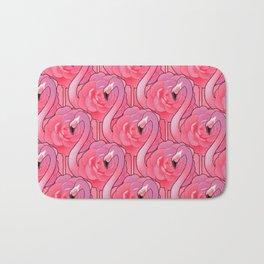 Cute floral flamingo Bath Mat