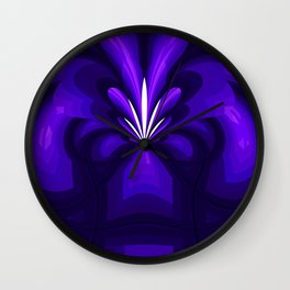 Purple Fountain Wall Clock
