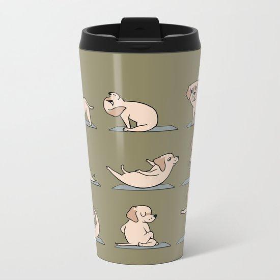 Labrador Retriever Yoga Metal Travel Mug