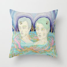 Water creatures Throw Pillow
