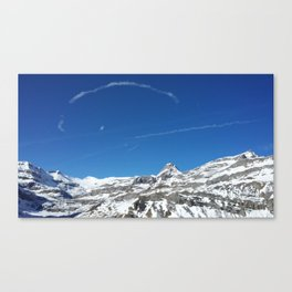 Gemmipass above Leukerbad, Valais, Swiss Alps I Canvas Print