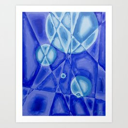 Monochromatic Geometric Abstract Art Print
