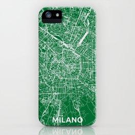 Milan, Italy street map iPhone Case