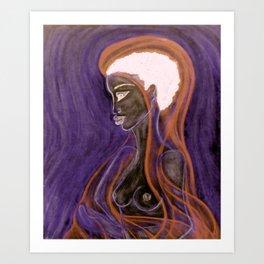 Soul Healer Orange Art Print