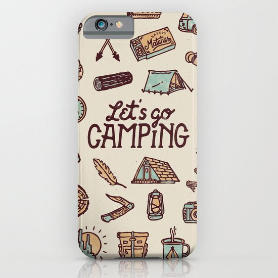 Lets Go Camping iPhone & iPod Case
