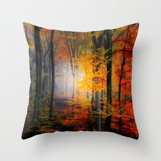 Light Colors Throw Pillow