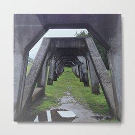 Arch Hallway Metal Print