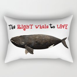 The right whale to love Rectangular Pillow