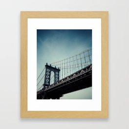 Moody Manhattan Framed Art Print