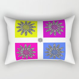 Daisy dot pink 1 Rectangular Pillow