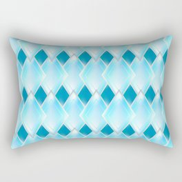 Glass-effect blue pattern Rectangular Pillow