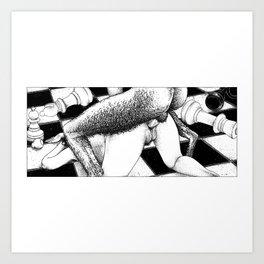 asc 791 - La reine renversée (Pan's endgame) Art Print