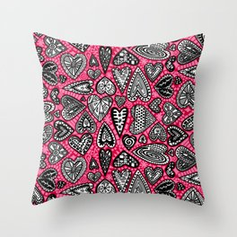 """""""hearts"""" by lalaLaMonique Throw Pillow"""