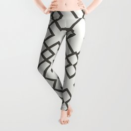 Brown and White Minimal Line Art Pattern 2021 Color of the Year Urbane Bronze and Extra White Leggings