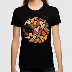 For The Love Of Goldfish Black X-LARGE Womens Fitted Tee