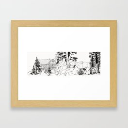 MOFFITT CABIN, Travel Sketch by Frank-Joseph Framed Art Print