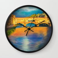florence Wall Clocks featuring Florence by Sara Clarke